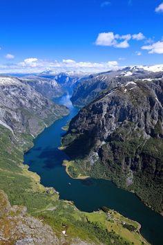 Naeroyfjord Norway by Finn Loftesnes