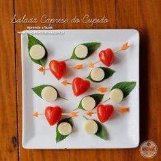 Receita salada caprese do cupido -  Dicas de como fazer - Passo a passo com fotos - Tutorial with pictures - caprese salad recipe - DIY  - Madame Criativa - www.madamecriativa.com.br