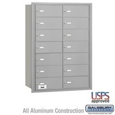4B+ Horizontal Mailbox - 14 B Doors - Aluminum - Rear Loading - USPS Access by Salsbury Industries. $693.00. 4B+ Horizontal Mailbox - 14 B Doors - Aluminum - Rear Loading - USPS Access - Salsbury Industries - 820996417206. Save 10%!