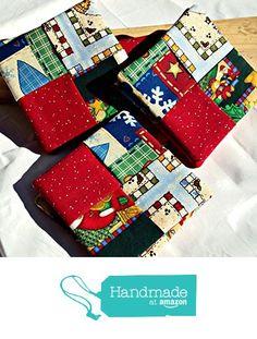 "Set of 8 Handmade Christmas Fabric Coasters or Mug Rugs - Christmas Scraps from ""...Of Brush and Needle"" http://www.amazon.com/dp/B016V4SUM8/ref=hnd_sw_r_pi_dp_Ir6lwb1ZDA68V #handmadeatamazon"
