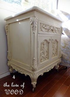 4 the love of wood: I SHOWED GEORGE HOW TO GAIN 3 INCHES - ornate night stands
