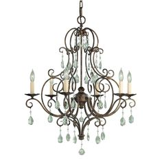 Murray Feiss F1902/6MBZ 6 Light Chateau Chandelier - ATG Stores