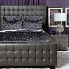 West Street Bed - Grey from Z Gallerie. My awesome husband surprised me and bought us this beautiful bed :)