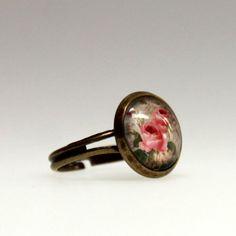 lijelove verstellbare Ringe, 04-00SL, La vie en rose, rosa, Cabochon 14 mm - Ringgröße 54 - 60 - http://schmuckhaus.online/lijelove/lijelove-verstellbare-ringe-04-00sl-la-vie-en-rose