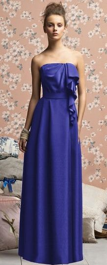electric blue gown / lela rose