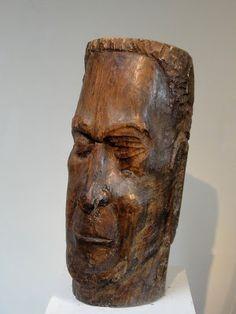 Constant PERMEKE, zelfportret uit boomstam geakt