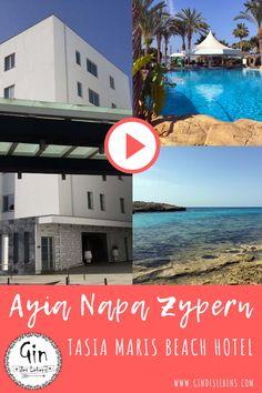 Ayia Napa Zypern Hoteltipp - eine Tour durch das Tasia Maris Beach Hotel. Reisetipp für Mai oder Juni. Unser Video zum Aufenthalt über Pfingsten. Diesen und weitere Reiseberichte findet ihr auf www.gindeslebens.com #Zypern #Ayia #Napa #Tasia #Maris #Beach #Hotel Ayia Napa, Hot Beach, Reisen In Europa, Beach Hotels, Juni, Hotel Spa, Travel Agency, Beautiful Islands, Trekking