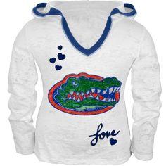 Glitter Love Logo Girls Juvy Zip Hoodie Florida Gators