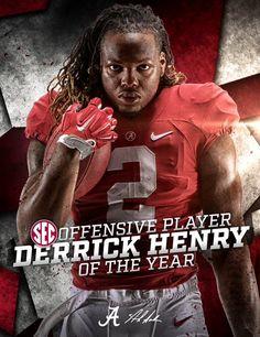 Derrick Henry, SEC Offensive Player of the Year 2015. #Alabama #RollTide #BuiltByBama #Bama #BamaNation #CrimsonTide #RTR #Tide #RammerJammer #DerrickHenry