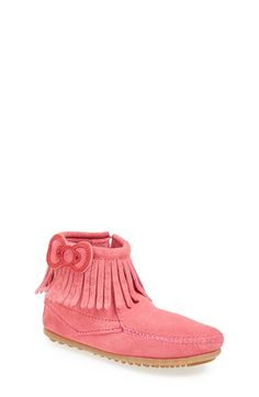 Minnetonka 'Hello Kitty®' Fringe Boot (Walker, Toddler, Little Kid & Big Kid) available at #Nordstrom - love the tan ones