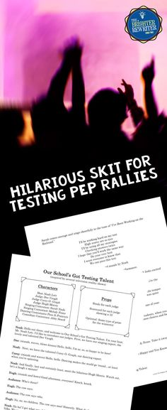 This testing encouragement skit is inspired by such television reality shows as American Idol, The Voice, America's Got Talent, and So You Think You Can Dance. Join host Noah Lott and judges Dee Vaugh, Corey O. Graph, and Hugh Morris (see what I did there) as they welcome singers, dancers, and comedians. Great for pep rallies!