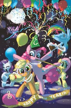 mlp new years my little pony cartoon my lil pony fluttershy mlp
