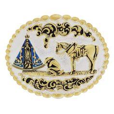 76f61583c7d3c Fivela Nossa Senhora Aparecida com Banho Dourado e Prata - Paul Western  18209