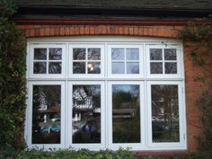 Casement windows wooden casement windows - the german window company my dre Casement Windows, Windows And Doors, Exterior Brick, Tiny House Luxury, Wooden Windows, House Windows, 1930s House Exterior, Living Room Windows, House Front