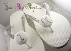 I DO Bridal Flip Flops Rhinestone Bride Wedding Custom personalized, monogrammed, initial, beach bridesmaid gifts