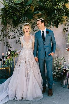 America's Next Top Model ain't got nothin' on these stylish brides. The most popular bridal fashion we shared in 2017 ranged from sophisticated Grace Kelly looks to boho Mamma Mia-esque gowns and we just can't get enough. We've rounded up the top 10 gowns that truly made a statement with their floral appliques, embellished shoulder loops or asymmetrical layers. #beauty #Hayley Paige #Vera Wang #wedding dresses #wedding fashion #wedding gowns
