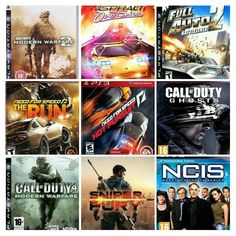 NCIS Game Call Of Duty Sniper Fury Full Auto 2 Battlelines Need For Speed Asphalt PS3 PC XBOX360 Wii 3DS