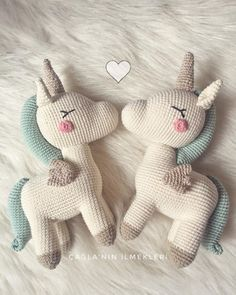 They are happy I am happy picPattern👉🏻 …. Crochet Stitches Patterns, Crochet Patterns Amigurumi, Amigurumi Doll, Crochet Dolls, Crochet Unicorn Pattern, Crochet Horse, Crochet Mermaid, Kawaii Crochet, Crochet Teddy