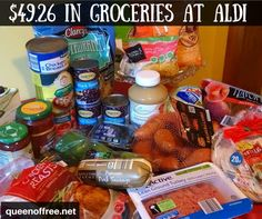 WOW I amazed at how much you can buy at ALDI with 50 This ALDI Crockpot meal plan provides six hearty meals sure to have leftovers Aldi Recipes, Crockpot Recipes, Budget Recipes, Crockpot Cheap Meals, College Recipes, Easy Recipes, Recipies, Dinner Recipes, Cooking Recipes