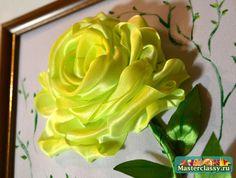 Rosa das fitas.  Como fazer uma rosa de fita?  Master class com fotos passo a passo