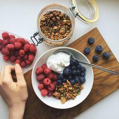 #granola#cream#bluberies my favorite