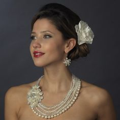 Ivory Pearl Austrian Crystal Wedding Jewelry Perfection