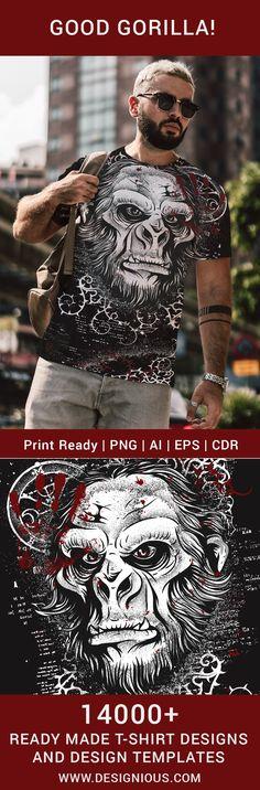 T-shirt Design 404 - Sasquatch T Shirt Design Template, Design Templates, Tanks, Tank Tops, How To Make Tshirts, Vector Format, Screenprinting, Heat Transfer Vinyl, Sign Design