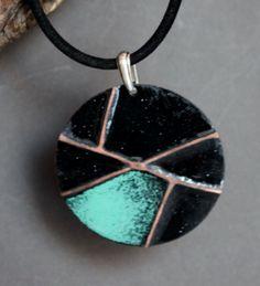 Enamel necklace, SilverBonBonz on Etsy