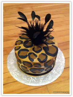 leopard print birthday cake! Love! ♥ Golden Velvet FABULOUS ♛