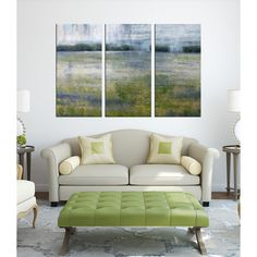 Hand-painted 'Under the Sky' 3-piece Gallery-wrapped Canvas Art Set