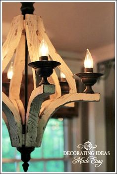 Neat chandelier Dining Room Decorating Ideas to Create an Inviting Room for Friends and Family! Driftwood Chandelier, Outdoor Chandelier, Rustic Chandelier, Rustic Lighting, Unique Lighting, Dining Lighting, Island Lighting, Diy Home Decor, Room Decor