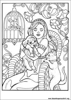 Desenhos para colorir da princesa Leonora