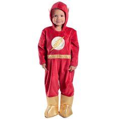 Toddler DC Comics The Flash Premium Toddler Jumpsuit Costume, Infant Unisex, Size: 1
