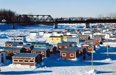 Image result for cool ice fishing huts