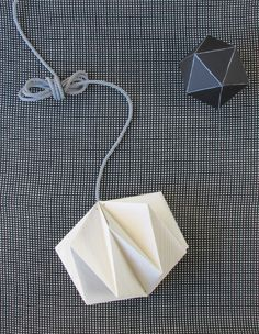 Origami Hanging Lamp Made From Wallpaper | Francois et Moi