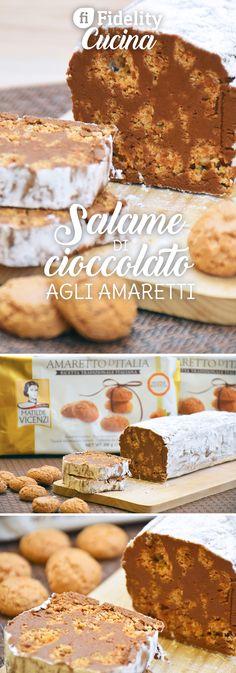 Il salame di cioccolato agli amaretti è una variante del classico dolce con biscotti secchi ancora più golosa e particolare. Ecco la ricetta ed alcuni consigli