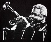 Very unusual Dizzy Gillespie t-shirt for your jazz lover. XL.