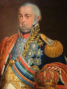 Joao VI (1767 - 1826). Son of Maria I and Pedro III. He married Carlota Joaquina of Spain and had children.