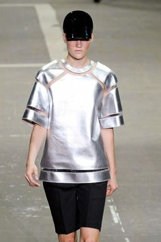 Sporty metallic top from Alexander Wang S/S '13.