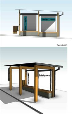 Image 5 of 7 from gallery of Winning Proposal for Bus Shelter Challenge: AdaptbyMany / Milos Todorovic. Courtesy of Milos Todorovic Geometric Furniture, Urban Furniture, Street Furniture, Commercial Interior Design, Commercial Interiors, Architecture Details, Interior Architecture, Architecture Diagrams, Architecture Portfolio