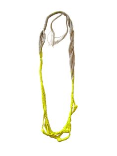Catalina Gibert L'mon necklace - linen canvas,  acrylic paint