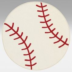 Dalyn Rug All Star Baseball AL52 Kids Rug - Ivory - 31 Inch Round