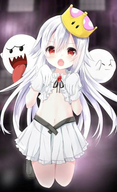 kouda_suzu new_super_mario_bros._u_deluxe no_bra princess_king_boo Anime Chibi, Lolis Anime, Anime Art, Anime Sexy, Manga Sexy, Anime Girls, Manga Girl, Loli Kawaii, Kawaii Anime Girl