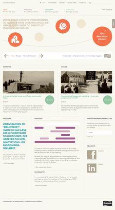 Website from Denmark based funding company Innovations Radar