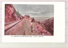 SOUTH CHEYENNE CANON C.S. & C.C. SHORT LINE CRIPPLE CREEK COLORADO