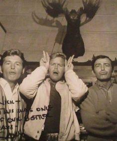 James Drury The Virginian, Doug McClure Trampas and Gary Clarke Steve, all looking gorgeous. Doug Mcclure, James Drury, Gary Clark, The Virginian, Clark Gable, Famous Faces, Looking Gorgeous, Old Hollywood, Westerns