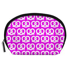 Pink+Pretzel+Illustrations+Pattern+Accessory+Pouches+(Large)++Accessory+Pouch+(Large)