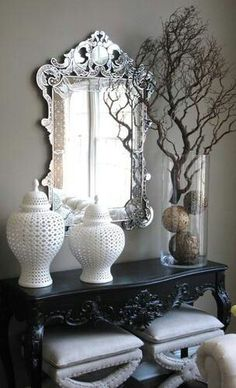 From Hampton Style! Houzz, Console Table, Candle Holders, Wall Decor, Candles, Ideas, Furniture, Design, Maltese