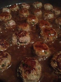 Spicy meatballs. A very quick and easy meal.