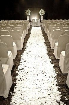 Wedding hall decorated by white flowers ~ By: Mint Event & Soirees http://www.wedding.com.my/category-wedding-planner/14